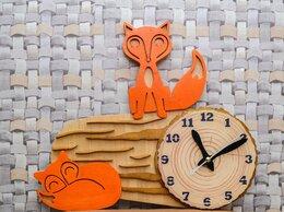 """Часы настенные - Настенные часы """"Две лисички на бревне"""", 0"""
