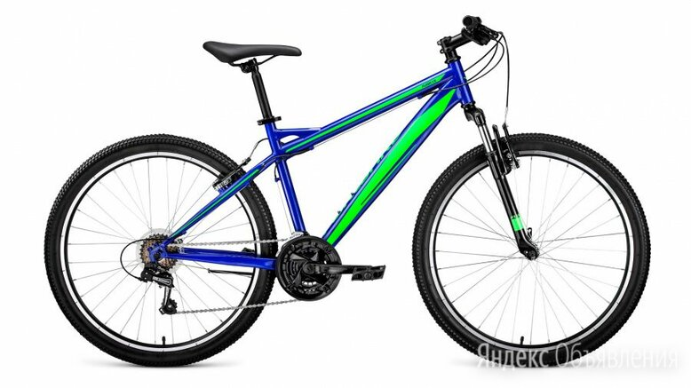 """Горный (MTB) велосипед FORWARD Flash 26 1.0 синий/зеленый 15"""" рама (2019) по цене 18891₽ - Велосипеды, фото 0"""