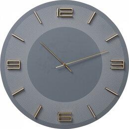 Часы настенные - Часы настенные круглые серые Leonardo, 0