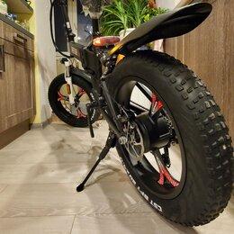 Мототехника и электровелосипеды - Электровелосипед фэтбайк двухподвес складной на…, 0