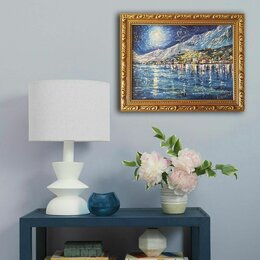 """Картины, постеры, гобелены, панно - Интерьерная картина """"Ночной Ван-Горск""""., 0"""