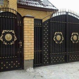 Заборы, ворота и элементы - Кованые ворота с калиткой, 0