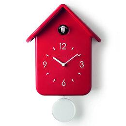Часы настенные - Часы с кукушкой qq красные, 0