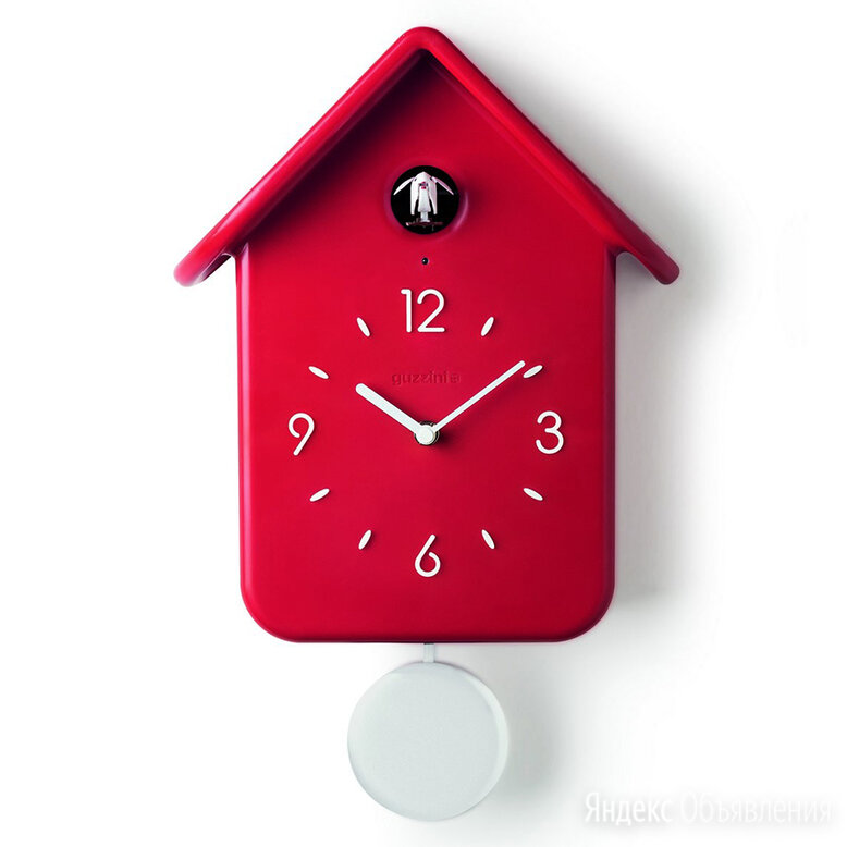 Часы с кукушкой qq красные по цене 11350₽ - Часы настенные, фото 0