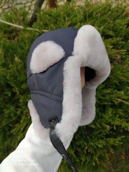 Головные уборы - Детские новые меховые шапки из мутона, 0