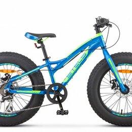 """Велосипеды - Подростковый фэт-байк STELS Aggressor MD 20 V010 синий 11"""" рама, 0"""