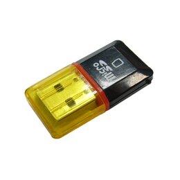 Устройства для чтения карт памяти - Картридер USB 2.0  micro SD TD-501, 0