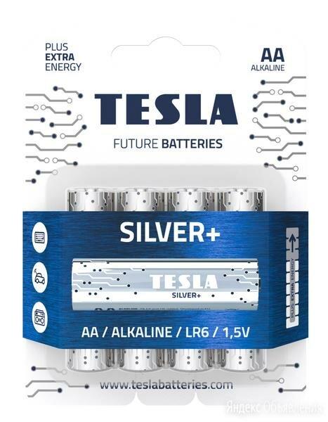 Батарейки Tesla SILVER AA+4ks Alkaline AA (LR06, п по цене 180₽ - Аксессуары и запчасти для оргтехники, фото 0