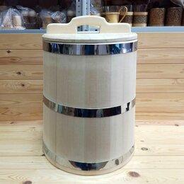 Бочки, кадки, жбаны - Кадка из кедра 40 л обручи из нержавеющей стали, 0