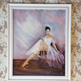 Картины, постеры, гобелены, панно - Картина маслом Балерина (картина с девушкой, живопись масло), 0