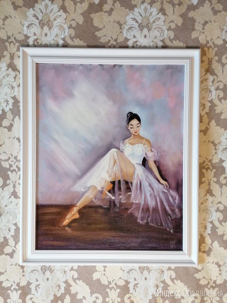Картина маслом Балерина (картина с девушкой, живопись масло) по цене 8500₽ - Картины, постеры, гобелены, панно, фото 0
