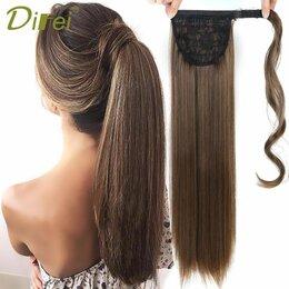 Аксессуары для волос - Шиньон 60 см темно-русый, 0