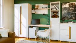 """Шкафы, стенки, гарнитуры - Набор мебели в детскую """"Сканди"""" (Белый снег), 0"""