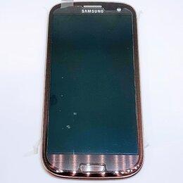 Дисплеи и тачскрины - Дисплей Samsung i9300 Galaxy S3 модуль коричневый Brown GH97-13630D Оригинал, 0