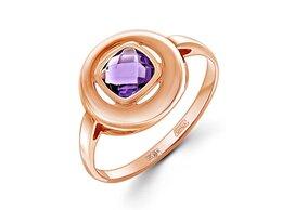 Кольца и перстни - Кольцо с аметистом из красного золота, 0