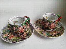 Кружки, блюдца и пары - Винтажные рельефные кофейные пары Германия, 0