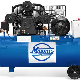 Воздушные компрессоры - Компрессор воздушный Magnus KW-525/100АS (10атм.,3,0кВт, 220В,Ф65), 0
