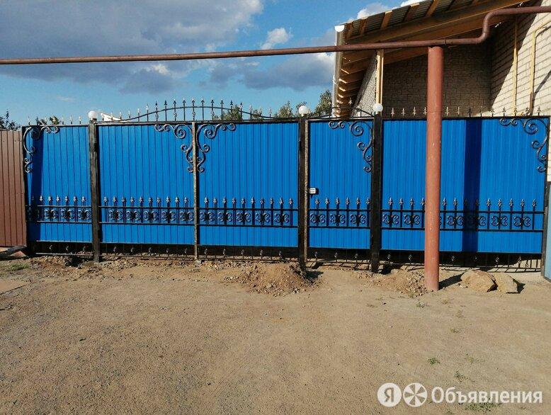 Металлические ворота с элементами ковки. по цене 10000₽ - Дизайн, изготовление и реставрация товаров, фото 0