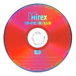 Диски - Диск DVD+R Mirex 8.5 Gb 8x Бум. конверт (1) Dual L, 0