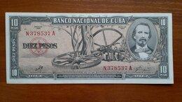 Банкноты - КУБА 10 песо 1960 г.  Подпись Э. Че Гевары, 0
