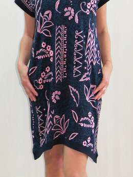 Платья - Платье с карманами (бардо и синее). Новое, 0