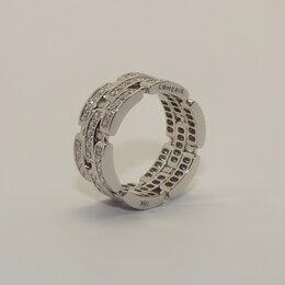 Кольца и перстни - Массивное кольцо с дорожками из бриллиантов в…, 0