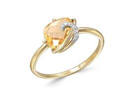 Кольца и перстни - Кольцо с 6 цитринами из жёлтого золота, 0