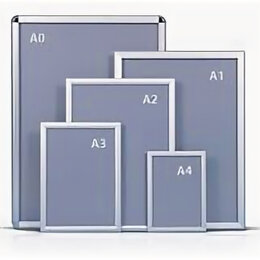 Рекламные конструкции и материалы - Рамка для постера А2, 0