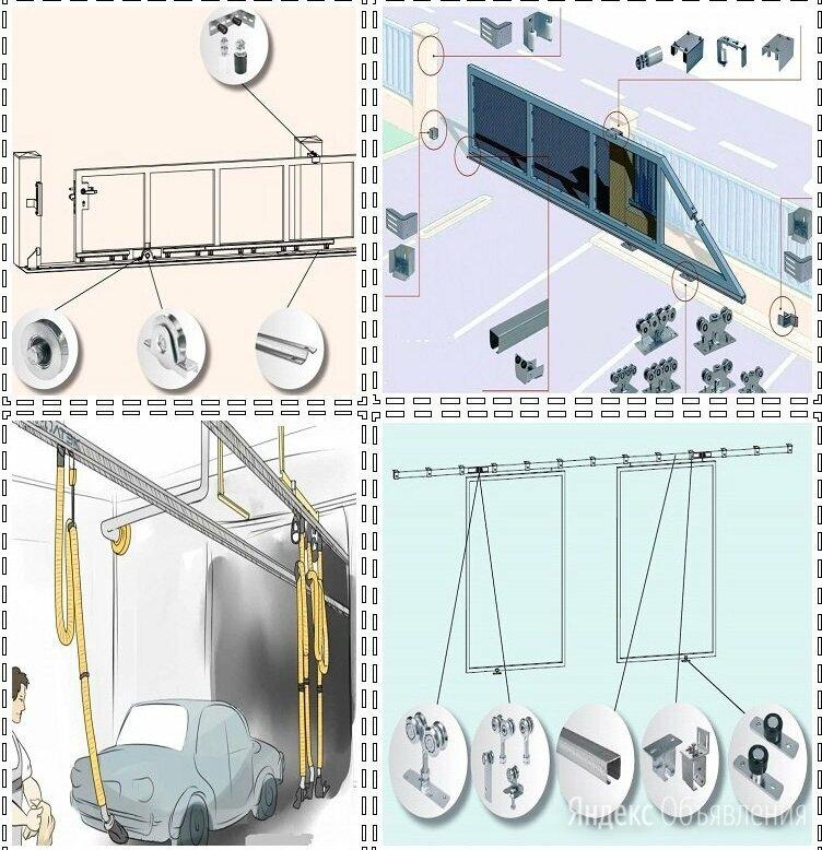 Комплектующие для откатных ворот по цене не указана - Заборы, ворота и элементы, фото 0