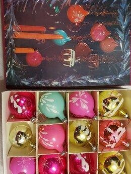 Ёлочные украшения - Елочные шары 1983 год в упаковке 12 штук раритет…, 0