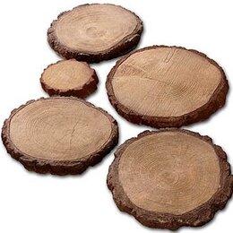 Тротуарная плитка, бордюр - Тротуарная плитка деревянные круги, 0
