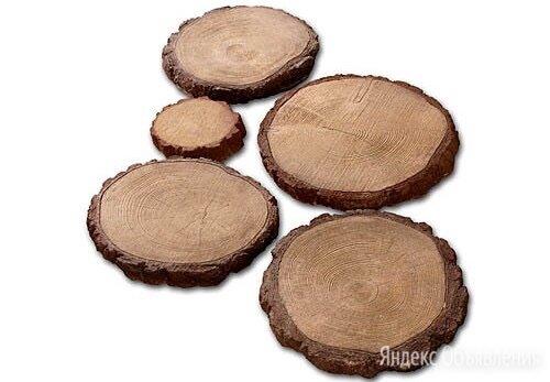 Тротуарная плитка деревянные круги по цене 190₽ - Тротуарная плитка, бордюр, фото 0