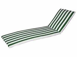 Лежаки и шезлонги - Матрац для шезлонга (зелено-белая полоса), 0