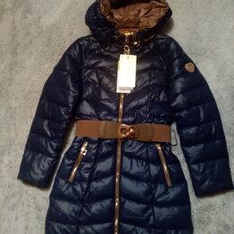 Куртки и пуховики - Пальто девочковое на искусственно лебяжем пуху, 0