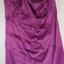 Платья - Платье р. 44-46 (атлас стрейч), 0