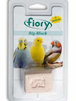 Садовые дорожки и покрытия - FIORY био-камень для птиц Big-Block с селеном 55 г, 0