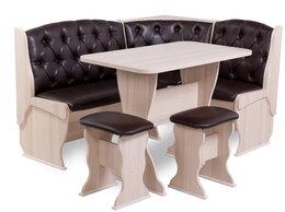 Мебель для кухни - Скамья угловая Люкс со столом и табуретками…, 0