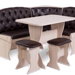Мебель для кухни - Скамья угловая Люкс со столом и табуретками новая в рассрочку с доставкой, 0