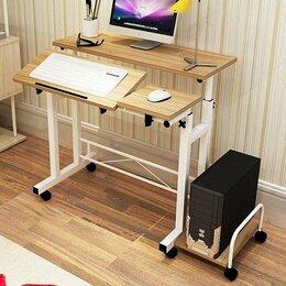 Компьютерные и письменные столы - Компьютерный стол на колёсиках HappyHome D-55, 0