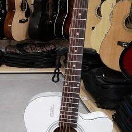 Акустические и классические гитары - Белая акустическая гитара, 0