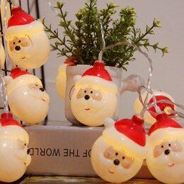 Новогодний декор и аксессуары - Гирлянда объемная - дед мороз, 0