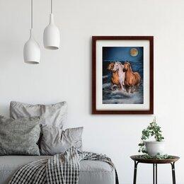 """Картины, постеры, гобелены, панно - """"Три коня"""", 0"""