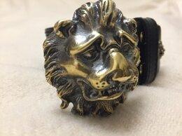 Ремни и пояса - ремень с пряжкой 3Д морда льва, 0