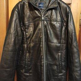 Куртки - Новая тёплая кожаная куртка Engbers р.56-58 Германия, 0