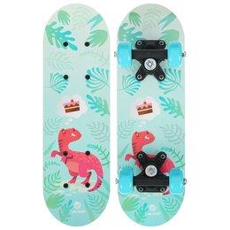 Скейтборды и лонгборды - Скейтборд детский «Динозавр» 44 × 14 см, колёса…, 0