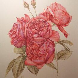 Картины, постеры, гобелены, панно - Красные романтические розы. Букет,цветы,пионы,картина, 0