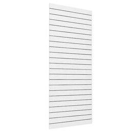 Расходные материалы - Экономпанель белая, вертикальная L1200хH2400хW18мм, шаг паза=100мм, 0