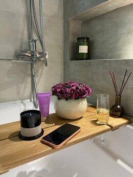 Полки, стойки, этажерки - Столик-полка для ванны (из дуба), 0