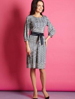 Платья - Красивое платье с поясом, вискоза, из Латвии В5…, 0