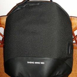 Сумки - Сумка рюкзак кросс-боди черная 32х26 см, 0